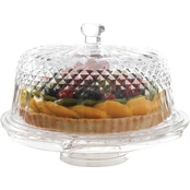 Gibson Home Jewelite Multi Function Cake Server with Dome