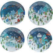 Winter Wonderland Snack Plate Melamine