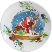 Gibson Home Snow Globe Snack Plate Melamine 4 pc. Set