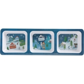 Winter Wonderland Three Section Tray