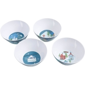 Winter Wonderland Bowls 4 pc. Set Melamine