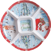 Gibson Home Merry Christmas Melamine Chip and Dip Tray