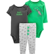 Carter's Infant Boys Dinosaur Little Character 3 pc. Set
