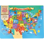 Masterpieces Puzzles USA Map 44 pc. Wood Puzzle