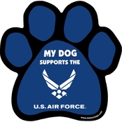All Star Dogs U.S. Air Force Paw Car Magnet