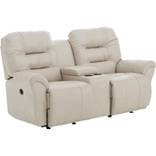 Best Home Furnishings Unity Leather Powered Loveseat with Console