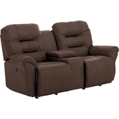 Best Home Furnishings Unity Leather Power Love Seat with Console