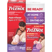 Tylenol Children's Liquid with Home/Away Grape Chewable 24 ct. Pack
