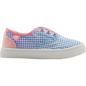 Oomphies Girls Robin Gingham Slip On Sneakers