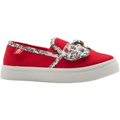 Oomphies Toddler Girls Paisley Slip On with Floral Bow