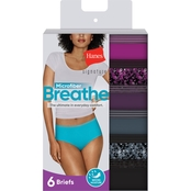 Hanes Signature Microfiber Breathe Briefs 6 pk.