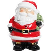 Gibson Home Jovial St. Nick Cookie Jar