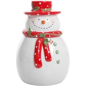 Gibson Home Jolly Plentitude Snowman 8 in. Cookie Jar