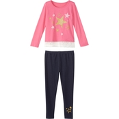 Gumballs Toddler Girls Jersey Top and Jeggings 2 pc. Set