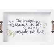Precious Moments The Greatest Blessings Decorative Wood and Metal Serving Tray