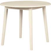 Signature Design by Ashley Slannery Round Drop Leaf Table