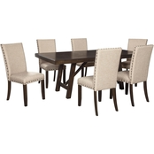 Rokane Dining Room 7pc Set: Table, 6 Chairs