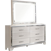 Signature Design by Ashley Lonnix 6 Drawer Dresser and Mirror Set
