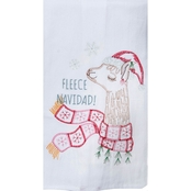 Kay Dee Designs Fa La La Llama Embroidered Flour Sack Towel