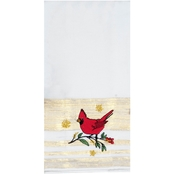 Kay Dee Designs Christmas Cardinal Embroidered Tea Towel