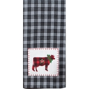 Kay Dee Designs Holiday Farmhouse Cow Tea Towel