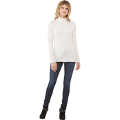 Passports Ruched Turtleneck Knit Top