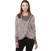 Calvin Klein Performance Cowl Neck Tulip Front Pullover