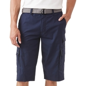 WearFirst Stretch Micro Ripstop Messenger Cargo Shorts with Belt