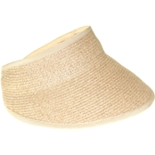 Nine West Large Packable Visor in Natural Heather