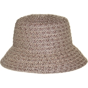 Nine West Packable Brown Combo Microbrim Hat