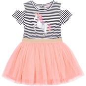Little Lass Toddler Girls Tulle Unicorn Dress