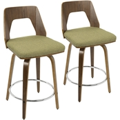 LumiSource Trilogy 24 in. Counter Stool 2 pk.