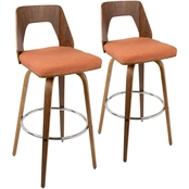 LumiSource Trilogy 30 in. Barstool 2 pk.