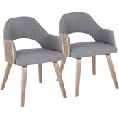 LumiSource Rollo Dining Chair 2 pk.