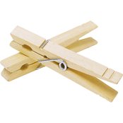 Whitmor Natural Wood Clothespins, Set of 50