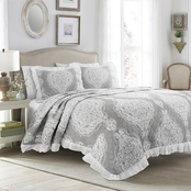 Lush Decor Lucianna Ruffle Edge Cotton 3 pc. Bedspread Set
