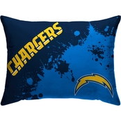 NFL Football Splatter Microplush Team Bed Pillow