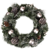 GiGi Seasons Frosted Silver Christmas Wreath