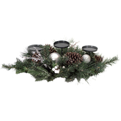 Gigi Seasons Frosted Silver Candle Holder