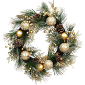 Gigi Seasons Gold Gilt Christmas Wreath