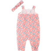 Little Lass Infant Girls Butterfly Jumpsuit
