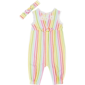 Little Lass Infant Girls Scalloped Edge Jumpsuit