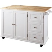 Signature Design by Ashley Withurst Kitchen Cart with Cabinet/Drawers