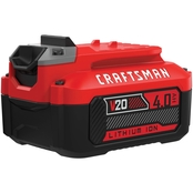 Craftsman 20 Volt Max 4 Amp Hours Lithium Power Tool Battery