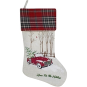 ICE Design Factory Home for the Holidays with Red Truck Christmas Stocking