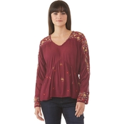 JW Embroidered V-neck Top