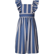 Bonnie Jean Little Girls Woven Stripe Gaucho