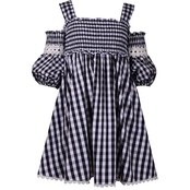 Bonnie Jean Little Girls Shadow Stripe Social Dress