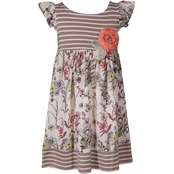 Bonnie Jean Little Girls Knit Empire Chiffon Dress