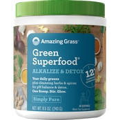 AMAZING GRASS GREEN SUPERFOODS ALKALIZE & DETOX, 30 SRV